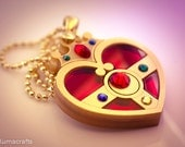 READY TO SHIP Sailor Moon Inspired Cosmic Heart Compact Necklace Pendant Laser Cut Acrylic