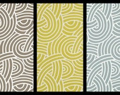 Kaufmann Geometric Knot Print-  Two 50x84 LINED Drapery Panels, more lengths available - Taupe, Citrine, Soft Blue