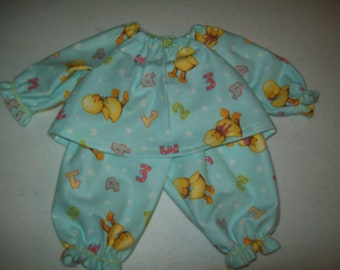 Baby Alive  And Waldorf Doll Clothes Adorable Pajamas