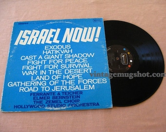 ISRAEL NOW 1967  Vintage vinyl  Record Album  Stereo Lp Nm- Jewish featured in Jews On Vinyl