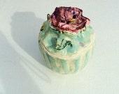 Flower Motif  Pottery Jar