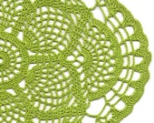 Christmas gift, Crochet doily, lace doily, Christmas decoration, doily tablecloth, weddings, napkin, green, handmade doilies