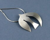 PENDANT ONLY: Handmade Silver Dove Pendant, Inspired by Matisse