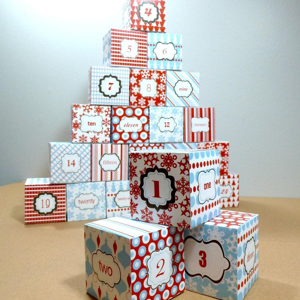 Advent Calendar Diy Template : Advent calendar printable christmas