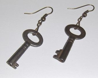 1920s VINTAGE Key Earrings