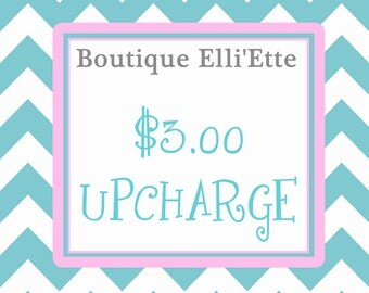 3 Dollar Upcharge for Knot Dresses, Peasant Dresses, Sash, Ruffle Pants