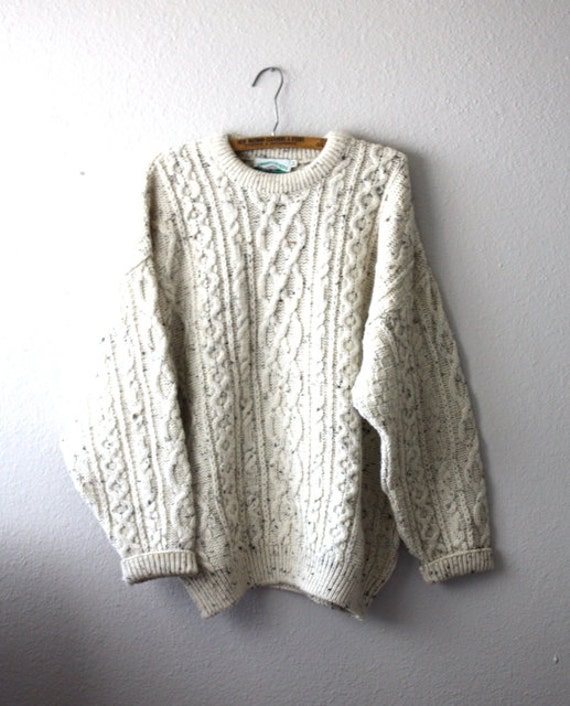 Vintage Men's OATMEAL Wool Knit Sweater