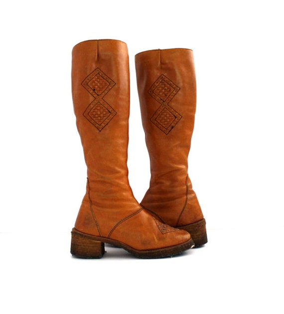 vintage s brown zodiac boots size 6 m