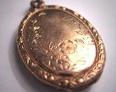 ON HOLD Antique Victorian Rose Gold Locket Pendant Floral