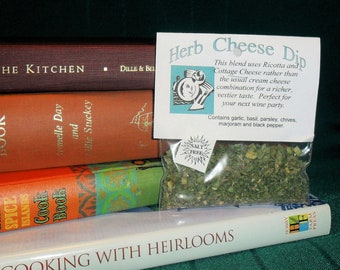 Herb Cheese Dip Mix, Hand-blended dry cooking herb mix, gluten and salt free, garlic, basil