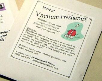 Vacuum Freshner, scented geranium, natural scented carpet fresher, chemical free