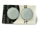 Graph Paper Silver Plated Stud Earrings Perfect for the Scientist or Mathemetician in your life