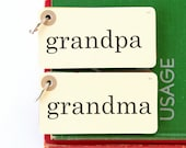 50% OFF CHRISTMAS SALE Pocket Sized Christmas Mixed Paper Journal - 35 Pages, Grandpa & Grandma