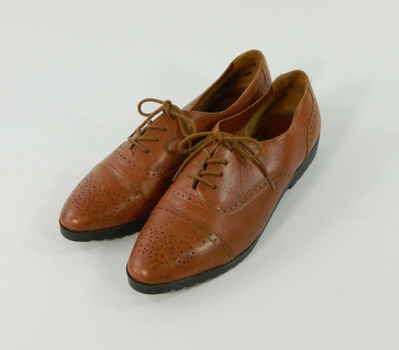 Oxfords Shoes Brown Leather Size 9