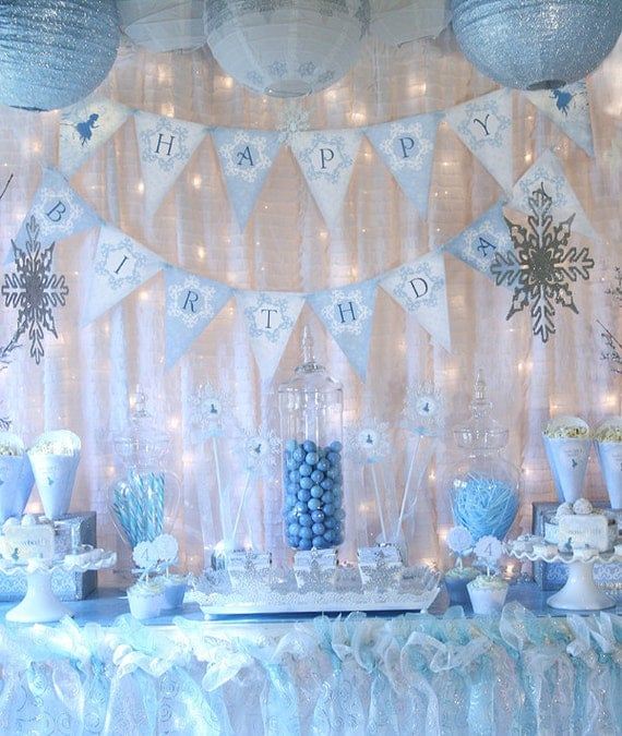 snow fairy winter wonderland party decorations banner