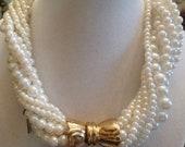 Vintage Twisted 8 Strand Pearl Choker