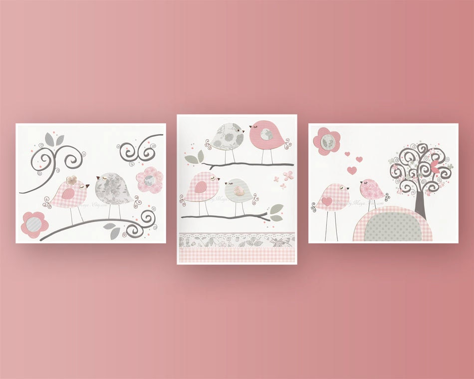 Girls Wall Art baby girl nursery decor girl nursery art nursery wall art
