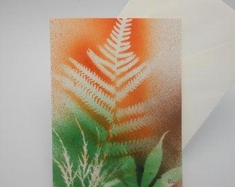 Thanksgiving card in Fall colors, original, handmade