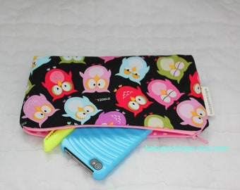 Pencil Case/Cosmetic Bag/ Gadget Case - Sleeping Owls
