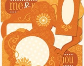 Orange Die-Cut Labels from Life's Little Occasions by K&Company 21 pieces