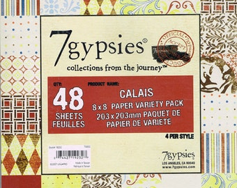 Calais 8x8 Paper Variety Pack by 7 Gypsies 48 sheets