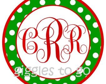 Cute Christmas Monogram Iron on