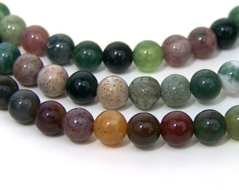 "Fancy Jasper beads, 4mm round gemstone bead, FULL 16"" STRAND (551S)"