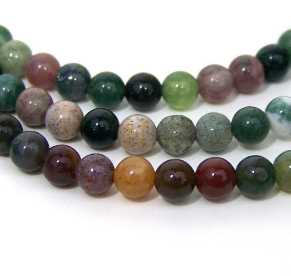 Fancy Jasper beads, 4mm round gemstone bead, FULL STRAND (551S)