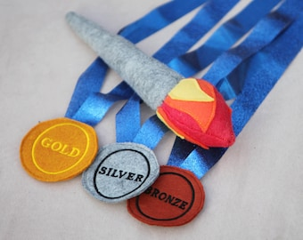 Olympic Dreams Play Set - Medals and Torch