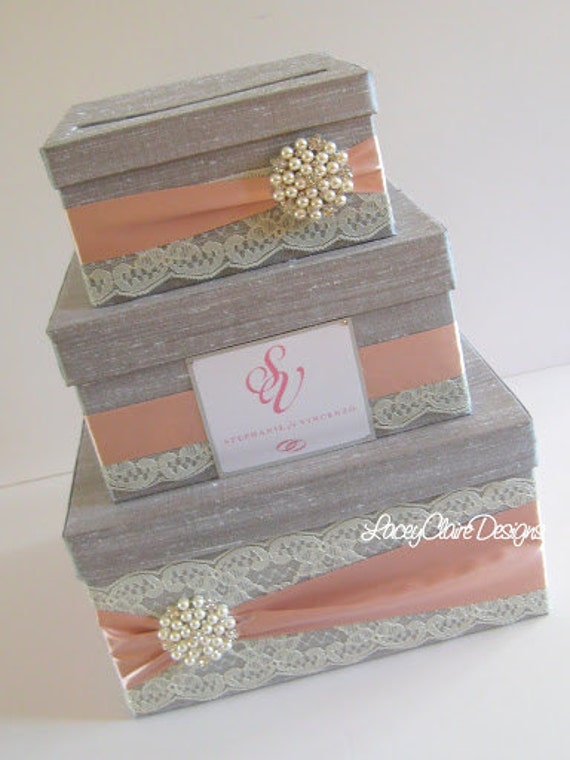 Wedding Reception Gift: Wedding Gift Box Card Box Money Holder Custom Made