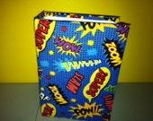 Blue Allover Superhero Comic Book Photo Album