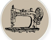 Instant download,free shipping,Cross stitch pattern, Cross-Stitch PDF,vintage sewing machine,zxxc0339