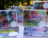Bright abstract art-- multi pack notecards- set of 10