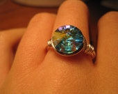 Swarovski crystal wire wrapped ring