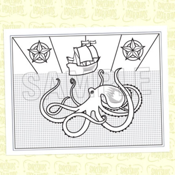 vintage coloring pages etsy - photo#11