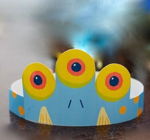 Children's Party Crown from the Monster Fest DIY Printable Birthday Collection by Spaceships and Laser Beams