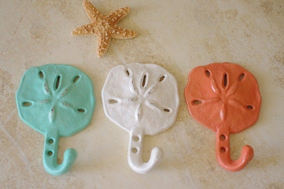 Cast Iron Sanddollar Wall Hook | Handmade Decor Ideas For Decorating A Beach House