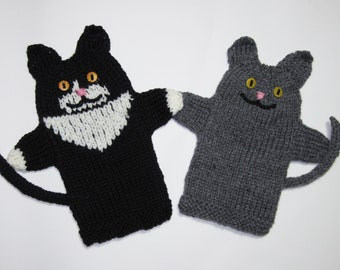 PDF Kitty Puppets Knitting Pattern Instant Download