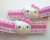 Pink hello Kitty Hair Clippy pair