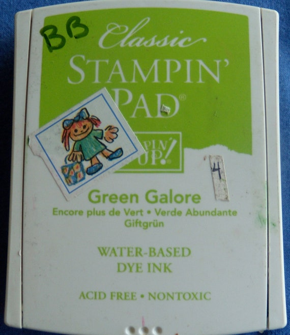 Green Galore Stamp Pad Retired  by Stampin Up