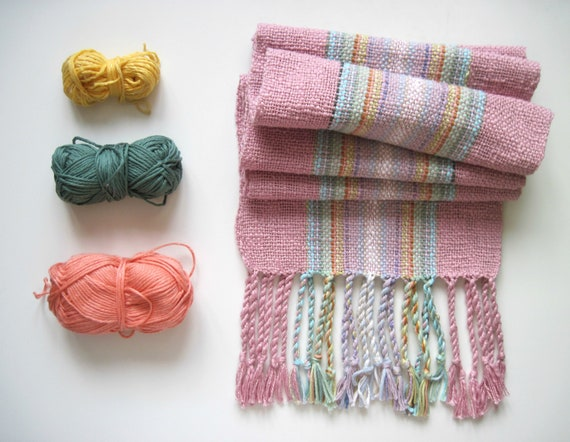 Handwoven Scarf with Unique Colors Cotton, Bamboo, Pima Tencel, Linen and Organic Cotton