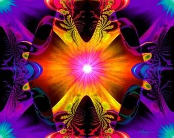 Psychedelic Art Print Chakra Decor Reiki Energy Healing Wall Art 8 x 10 Print
