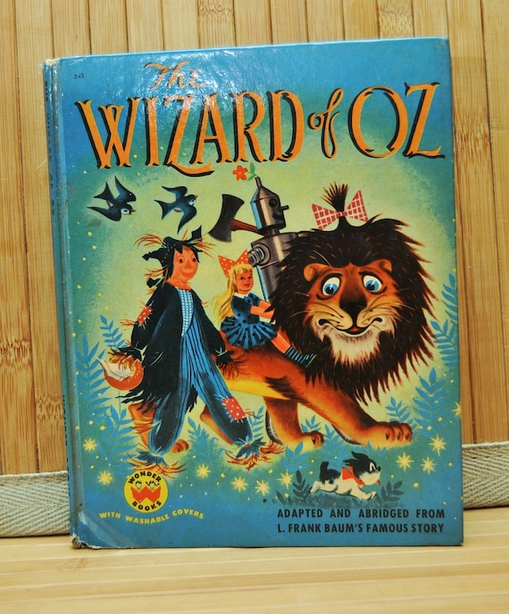 Vintage Wizard of Oz Childrens Book 1950s by Wonder Books