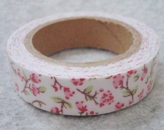 Self Adhesive Assorted Flowery Fabric Cloth Ribbon - 13ft