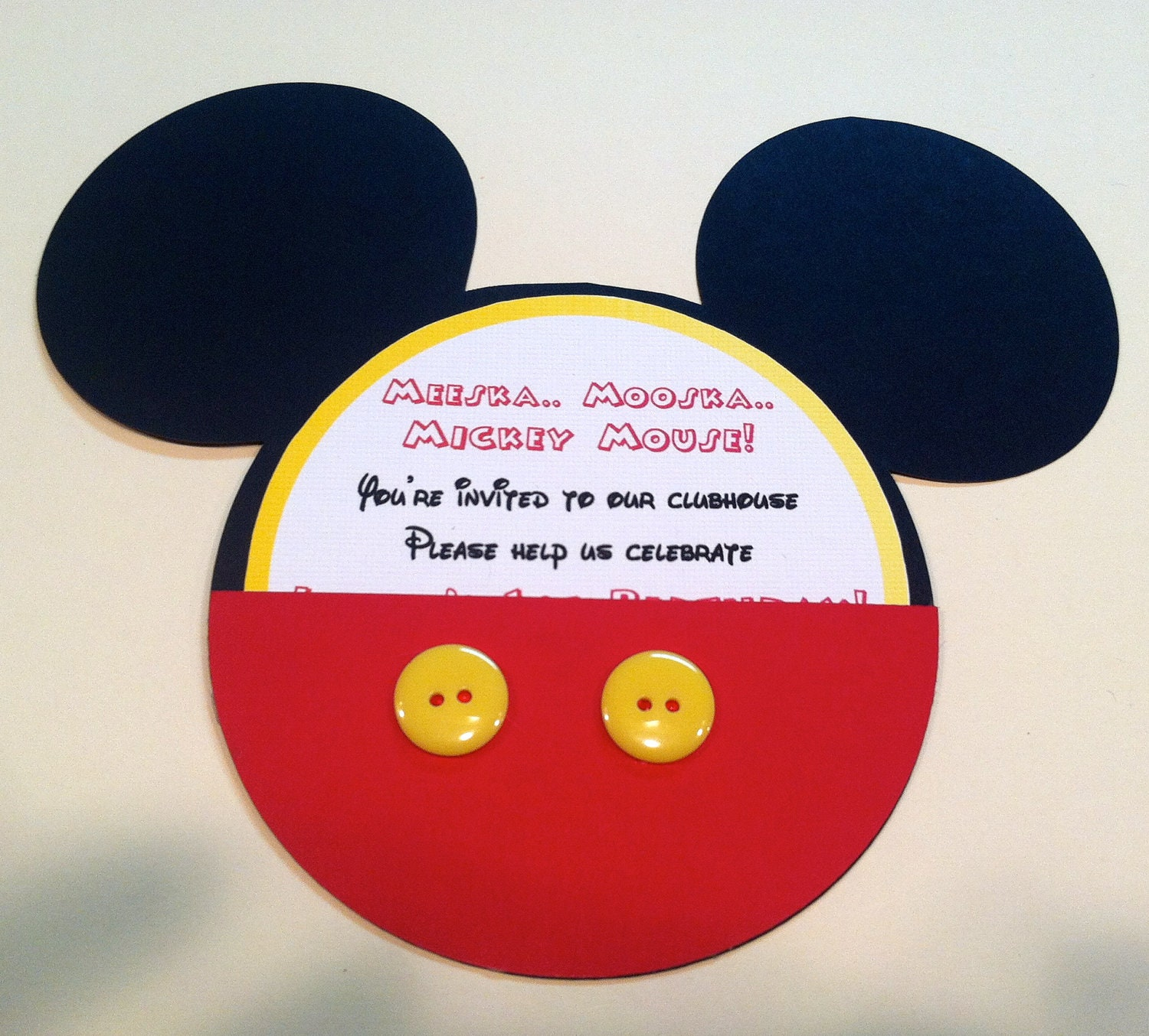 mickey mouse invitation by monamigabby on etsy