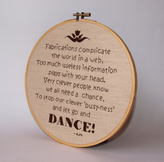 Embroidery PDF Pattern - Dance