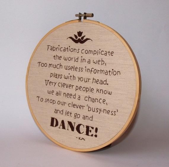 Embroidery PDF Pattern - Dance