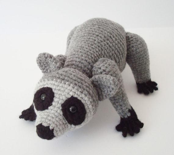 Amigurumi Raccoon : Raccoon Hand Crocheted Amigurumi Stuffed by OohLookItsARabbit