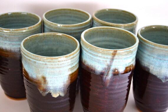 coffee & sky stoneware tumbler cup