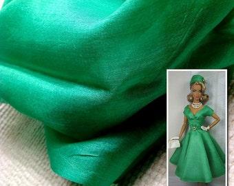 "Peace Silk fabric. Ahimsa Silk. Pure Silk. Handwoven. Slow Fashion Fabric. Natural organic fairtrade. 42"" / 106 cm wide. Grasslands color."